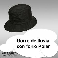 GORRO DE LLUVIA IMPERMEABLE UNISEX CON FORRO POLAR EN EL INTERIOR HOMBRE MUJER