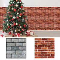 3D Tile Sticker Removable Wall Decal PVC Fake Brick Adhesive Home Decoration 1PC