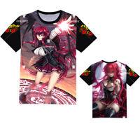 Anime High School DxD Rias T-shirt Short Sleeve Unisex White TEE Cosplay#4-785