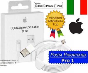Cavo DATI ORIGINALE Lightning Usb Per Apple iPhone 5,6 X 7,8 Plus