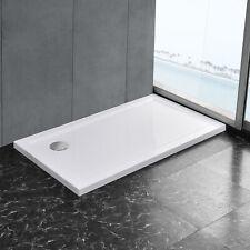 [neu.haus]Receveur de douche 70x120cm blanc pur bac à douche rectangulaire plat