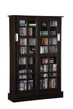 Windowpane Media Storage Cabinet 576 CD Or 192 DVD Blu Ray Slide Glass  Atlantic