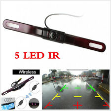 HD 170° Car Rear View Reverse Backup License Plate Parking Camera Night Vision