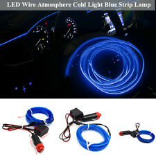 2M 180° Car Interior Decorative LED Wire Atmosphere Cold Light Blue Strip Lamp
