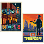 Memphis Tennessee Beale Street Sticker Set of 2 Luggage Decals
