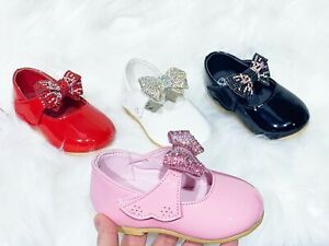 New Girls Baby Toddler Spanish Wedding Style Flats Party Casual Shoes Size uk