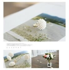 'Vera' dome faux Pearl statement ring adjustable fashion vogue uk gift mushroom