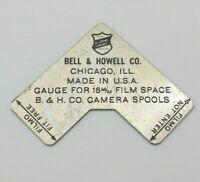 Vtg Bell & Howell Filmo Metal Gauge for 16mm Film Space B & H Camera Spools