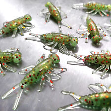NEW 50/pack ELECTRIC GRASSHOPPER Buggeroo Fishing Soft Plastic Bait Bug Cricket