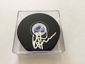 Mike Ricci Signed Hockey Puck Colorado Avalanche Avs Autographed b