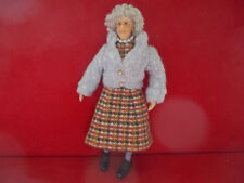 Dollhouse Doll 1:12 Grandmother sweater sensible shoes pearls socks