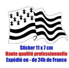 Sticker autocollant drapeau Breton Adhésif région Bretagne Breizh H Qualité Neuf