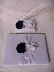Wedding Party Ceremony Western ~Cowboy Hats~  Guest Book Pen Set 3 Ps