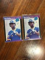 🔥1989 Donruss Ken Griffey Jr #33 Baseball Rated Rookie Card🔥 (2 cards)
