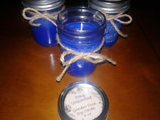 Garden Nook Unscented Soy Candle - Navy 8 oz glass jar w/lid.