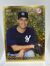 1995 BOWMAN #257 ANDY PETTITTE PRIME PROSPECT NEW YORK YANKEES HOF GOLD FOIL 🔥