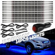 2//4x 10000K Blue LED Strip Under Car Underglow Neon Light Kit For Jeep L80