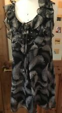 Ladies Size S 8-10 Top Sleeveless Black Grey Casual Evening Uttam Boutique ASOS
