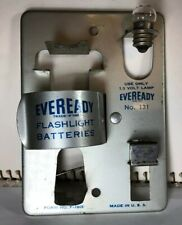Vtg. Eveready Flashlight Battery Tester Model 131, 50's Advertising Collectible