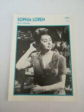 Sophia Loren (b) - Fiche cinéma - Portraits de stars 13 cm x 18 cm