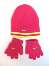 NIKE knit Beanie-Reversible-Pink-Girls Youth L