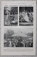 1901 Imprimé Aldershot Militaire Fête Duke Of Cambridge Général & Lady Buller