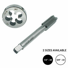 "1/2""-28 or 5/8""-24 Tap Taps and Die Set Unf Hss Thread Metalworking Cutting Tool"