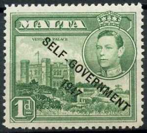 Malta 1948-53 SG#236, 1d Green Optd KGVI MNH #E10590
