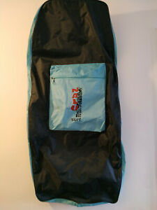 AH359) 53cm x 106cm Nalu Surf body board bag blues zip up - used condition
