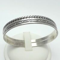 Sterling Silver Vintage MJ Metro Creative Foxtail PAIR Slip-On Bangle Bracelets