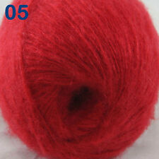 Sale 1 ball MOHAIR 50% Angora goats Cashmere 50% silk Yarn Knitting Red