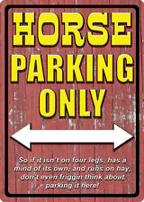 "WESTERN RUSTIC RANCH HOME BARN DECOR ""HORSE PARKING ONLY"" METAL SIGN"