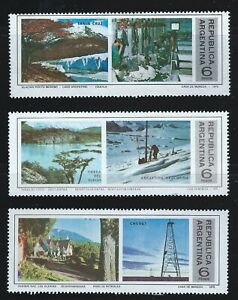 Argentina Sc 1063-5 Tourist Publicity Santa Cruz, Tierra del Fuego, Chubut