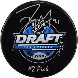 "Tyler Seguin Dallas Stars Signed 2010 Draft Logo Hockey Puck with ""#2 Pick"" Insc"