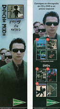 "DEPECHE MODE ""PLAYING THE ANGEL"" SPANISH PROMO BOOKMARK/ GAHAN - GORE - FLETCHER"