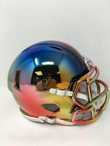 Multi Color custom CHROME  riddell speed mini helmet