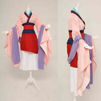 Mulan Dress Full Set Party Outfits Uniform Cosplay Costume Halloween