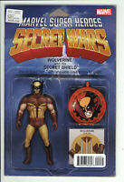 Secret Wars  #2 Wolverine Action Figure Variant Marvel Comic 1st Print 2015 NM