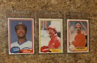 (3) Leon Durham 1981 Topps Traded Fleer Rookie Card Lot RC Cubs All Star