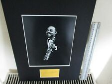 BENNY CARTER AMERICAN JAZZ SAXOPHONIST SIGNED AUTHENTIC AUTOGRAPH DISPLAY UACC