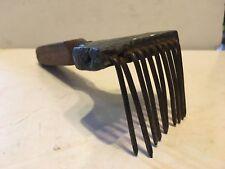 "Antique 6 1/4"" Hand Forged Steel Handmade Blacksmith Hand Metal Comb Rake? RILEY"