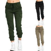 ZANZEA Femme Pantalon Casual en vrac Taille elastique Poche Loose Plus Long