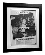 BERNIE TORM+Electric Gypsies+POSTER+AD+ORIGINAL 1983+FRAMED+EXPRESS GLOBAL SHIP