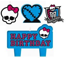 MONSTER HIGH CANDLE SET 4pcs ~ Happy Birthday Party Supplies Cake topper