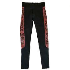 f0da96c7bf Victoria's Secret Pink Ultimate Yoga Leggings Pant Black Olive Stripe Small