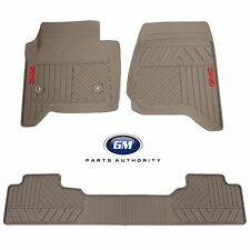 2014-2018 GMC Sierra Premium All Weather Front & Rear Floor Mat Pkg Dune OEM GM