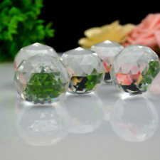 5PC Gazing Ball Crystal Sphere Clear Cut Home Decor Faceted.3