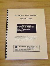 Winchester Super-X Model 1 Take Down Manual - #W1