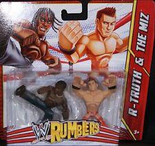 WWE RUMBLERS R-TRUTH & THE MIZ FIGURES *NU*