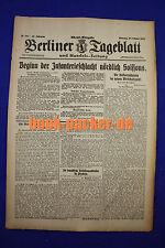 BERLINER TAGEBLATT (23.10.1917): Beginn der Infanterieschlacht nördlich Soissons